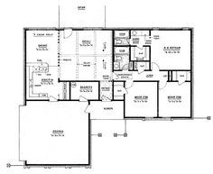 Floor Plans AFLFPW23533 - 1 Story Ranch Home with 3 Bedrooms, 3...
