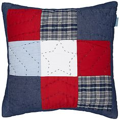 Buy little home at John Lewis Stars 'n' Stripes Cushion, Multi online at JohnLewis.com - John Lewis