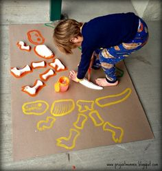 Dinosaur Excavation Pit Dig and Fossil Puzzle Birthday Party | CatchMyParty.com