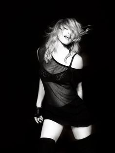 I would dare to rock a net dress like Madonna.