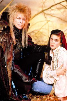 King Jareth, David Bowie and Sarah Williams, Jennifer Connelly The Labyrinth David Bowie Labyrinth, Labyrinth 1986, Labyrinth Movie, Sarah Labyrinth, Jennifer Connelly, Goblin King, Sarah And Jareth, Labyrinth Goblins, Jim Henson Labyrinth