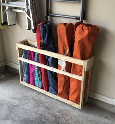 Such an easy way to store chairs!