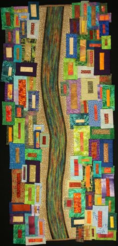 Handmade Art Quilt  A River Runs Through It by joystrings on Etsy