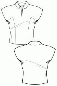 Sewing patterns- view our large collection of fashionable trend-led sewing patterns. Learn sewing construction techniques and make garments - Start making now! Doll Clothes Patterns, Sewing Clothes, Clothing Patterns, Sewing Patterns, Pink Patterns, Flat Drawings, Flat Sketches, Technical Drawings, Dress Sketches