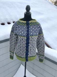 Excited to share this item from my #etsy shop: Norwegian handknitted cardigan in Wiola design