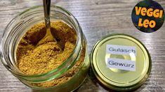 Gulasch Gewürzmischung - Rezept von Veggi Leo Cereal, Sugar, Breakfast, Youtube, Food, Vegetarian Recipes, Homemade, Diy, Vinegar