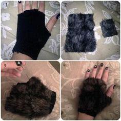 Halloween DIY | furry gloves | ohthatsyou.com