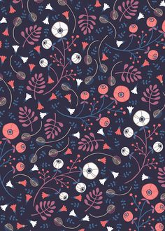 Floral ditsy pattern by Paula McGloin