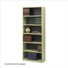 """Safco 6-Shelf ValueMate Sand Economy Steel Bookcase by Safco. $178.15. Sturdy steel construction of shelf and exterior. Easily accommodates 3-ring binders and large publications. Perfect for reception and foyer areas. Generous 12"""" deep shelves. Economical, sturdy, and strong with the ValueMate® Bookcases you can't go wrong! The shelf and exterior of the bookcase are constructed of steel and the back is made of solid fiberboard. Attractive, plastic snap-in radius corn..."""