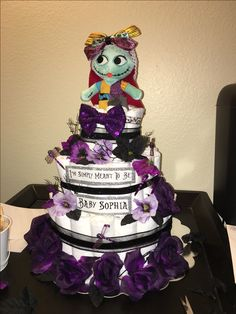 Diaper cake for baby Sophia