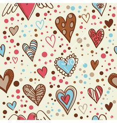 Cute doodle seamless wallpaper vector - by Yuzach on VectorStock®