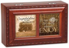 Cottage Garden Congrats Retirement Woodgrain Petite Music Box / Jewelry Box Plays Wonderful World >>> Want to know more, click on the image.
