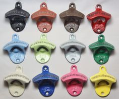 Bottle Opener Pick Your Color Rustic Cast Iron Wall Mount Party Favor Stocking Stuffer Gift for Dad Christmas Fathers Day par RobsRustics sur Etsy https://www.etsy.com/fr/listing/120406284/bottle-opener-pick-your-color-rustic