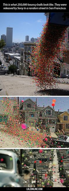 This Is What 250,000 Bouncy Balls Look Like#funny #lol #lolzonline