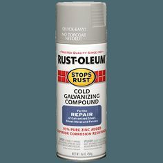 Instantly galvanize metal surfaces to protect them from corrosion with Rust-Oleum® Stops Rust® Cold Galvanizing Compound Spray. This 93% pure zinc coating applies a galvanized film with cathodic protection, which resists rusts, scratches and chips.