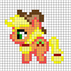 My little pony - Apple Jack pattern - by me For a free and better color, printable version go to lovinglifedesigns.blogspot.com