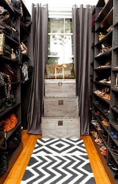 Shoe and Handbag Walk-in Closet