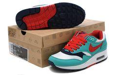Frauen\'s Nike Air Max 87 blau/weiß/schwarz/rot
