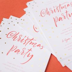 Eye catching Christmas party invitation designs that include foil. Wedding Invitations Online, Engagement Invitations, Baby Shower Invitations, Christmas Stationery, Christmas Party Invitations, Birthday Invitations, Christmas Place Cards, Christmas Gift Tags, Print Paper
