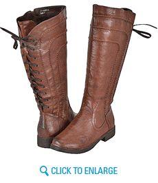 Yoki Graham-08 Brown Women Riding Boots
