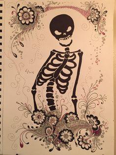 Skull Zentangle drawing