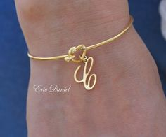 Personalized Love Knot Bangle Choose Your by EricDanielDesigns, $35.00