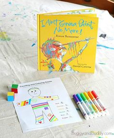 Drawing and Counting Math Game for Kids Inspired by the Book, I Ain't Gonna Paint No More! (Free Printable) ~ BuggyandBuddy.com