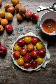 Plum & Amaretti Tart - From My Dining Table by Skye McAlpine