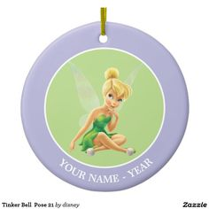 Tinker Bell  Pose 21 Ceramic Ornament