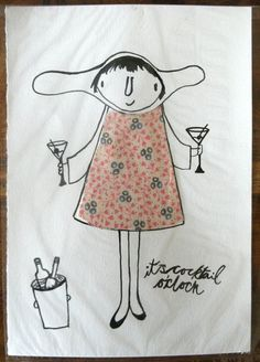 Its Cocktail O'Clock by AuntyCookie on Etsy