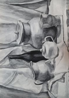 Drawing For Beginners, Charcoal Drawing, Painting Videos, Aesthetic Art, Mandala Art, Art Education, Art Sketches, Landscape Paintings, Still Life