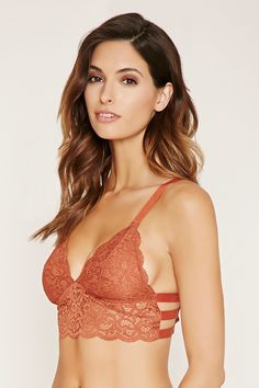 c467e7e8ca Forever 21 Caged Ornate Lace Bralette  12.90. This color is amazing and  would make your