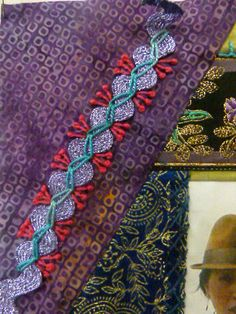 Debra's Design Studio. Embellished embroidered ric rac.