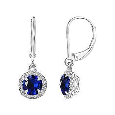 FREE SHIPPING AVAILABLE! Buy Blue Sapphire Sterling Silver Drop Earrings at JCPenney.com today and enjoy great savings. Available Online Only!