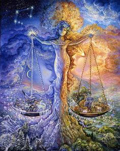 Signs of the Zodiac by Josephine Wall: Libra Art Libra, Zodiac Art, Zodiac Signs, Libra Sign, Libra Astrology, Libra Horoscope, Virgo, Astrology Today, Astrological Sign