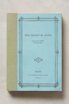 Mon Carnet Journal #anthropologie