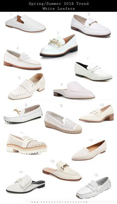 Blog - Fashion Forecast  White Loafer Trend 2018 59ff097b6cfc