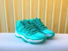 0b7e55c42c6c79 2018 Air Jordan 11 GS Turbo Green White Girls Shoes For Sale-1