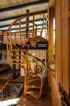 Sam Maloof, Wood Worker, Spiral Staircase, Drafting Desk, Stairs, Woodworking, Studio, Furniture, Entryway