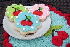 Cherry Sugar Cookies - 1 dozen. $36.00, via Etsy.