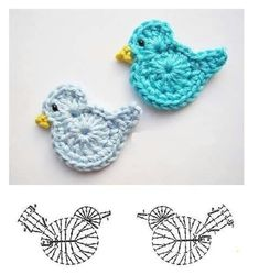 Best 12 Crochet Birds – DIY Ideas for Creativity – DIY Ideas – Salvabrani Source by dgdkkprc Crochet Butterfly, Crochet Birds, Easter Crochet, Crochet Bunny, Cute Crochet, Irish Crochet, Crochet Shoes, Tunisian Crochet, Crochet Applique Patterns Free