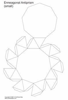 desarrollo plano de unantiprisma enneagonal