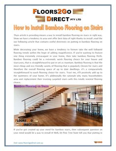 How to install bamboo flooring on stairs