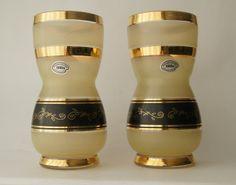 * Belgium * Vases set with decor 2051    Vienna    Boom glass 1950.   Sold. *België*  Vazen set met decor 2051    Vienna  boom glas 1950.   Verkocht.