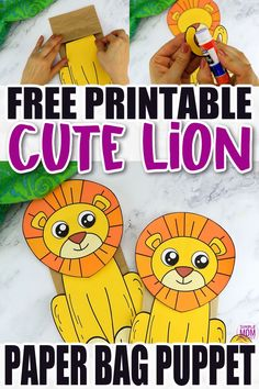 Are you teaching the letter L to your preschooler or toddler? Be sure to use this free printable paper bag lion puppet template. It is easy to cut out and craft making it with simple materials like a paper bag! The lion template comes in color and in black and white. Print yours now! Lion Kids Crafts, Zoo Crafts, Lion Craft, Puppet Crafts, Animal Crafts For Kids, Templates Printable Free, Free Printable Coloring Pages, Free Printables, Printable Paper