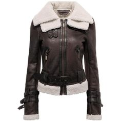 Yoins Yoins Shearling Biker Jacket ($57) ❤ liked on Polyvore featuring outerwear, jackets, yoins, coats, tops, brown, leather & suede jackets, shearling jacket, motorcycle jacket and brown motorcycle jacket