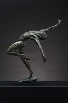 #Bronze #sculpture By #sculptor Keith Calder Titled: U0027Layback Male Dancer (
