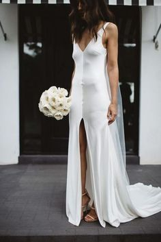 At One Day Bridal we offer an alternative to traditional. We seek to break the rules, creating effortless bridal looks for the modern day bride. One Day is a leading bespoke bridal house in Melbourne, Australia. Slip Wedding Dress, Wedding Gowns, Minimal Wedding Dress, Wedding Hair, Bridal Hair, One Day Bridal, Carrie Bradshaw, Fashion Week, Dress Wedding