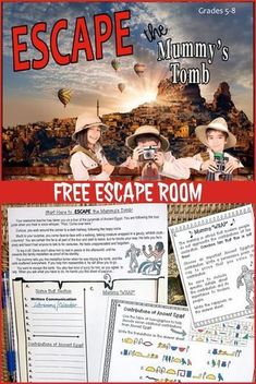 This FREE escape room resource is perfect to leave with a sub or to use anytime you want your kids to experience some self-directed learning. It begins when you- the most awesome and creative teacher in the history of the world- take your class to tour th Escape Room Diy, Escape Room For Kids, Escape Room Puzzles, Escape Space, Diy 10 Ans, Escape The Classroom, Breakout Edu, Breakout Boxes, Escape Room Challenge