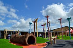 Daisy's Garden was designed by Jupiter Play to be the 'Willy Wonka' of the ice cream world. Cheshire Ice Cream Farm, Ice Cream World, Play Equipment, Willy Wonka, Chocolate Factory, Parkour, Daisy, Landscape, Bespoke